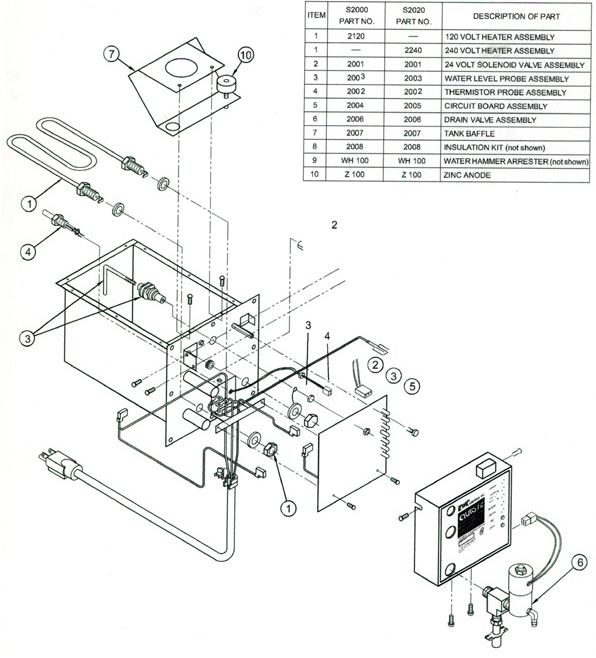 field controls s2000 steam humidifier parts