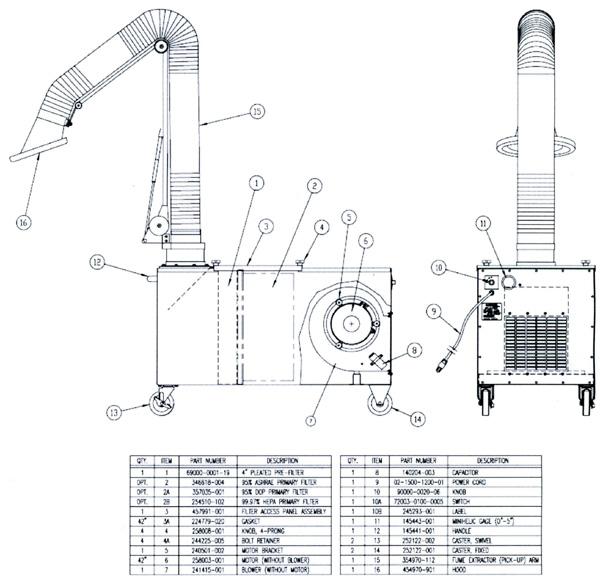 Trion M2500m Air Cleaner Parts